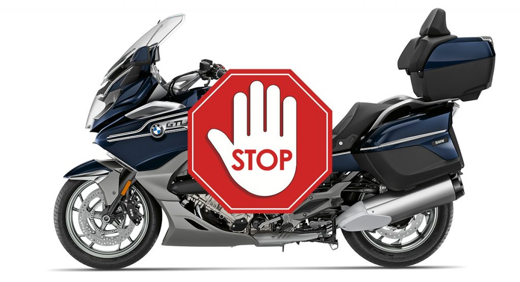 stop consegne k1600 kog no ordinary bikers bmw